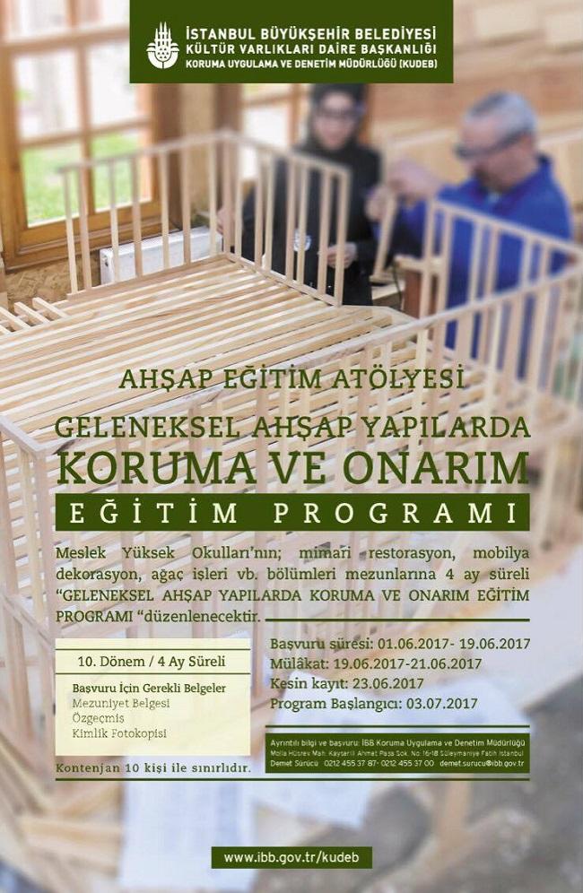 KUDEB - Geleneksel Ahşap Yapılarda Koruma ve Onarım - Eğitim Programı